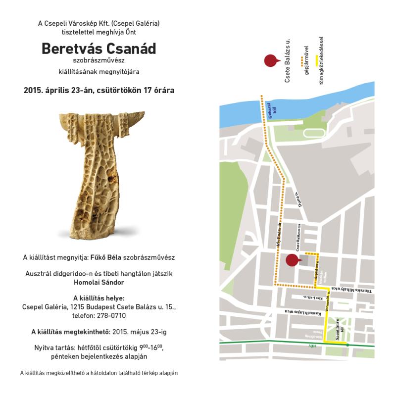 Beretvás Csanád szobrászművész kiállítása