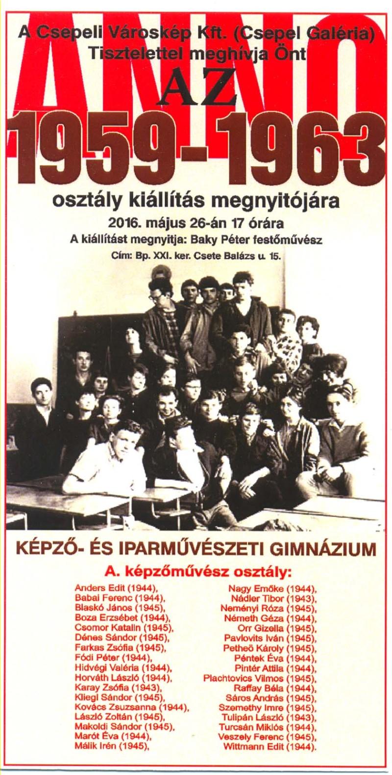 """""""ANNO 1959-1963"""""""