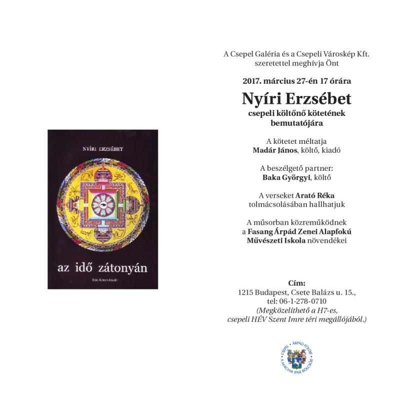 Nyíri Erzsébet könyvbemutatója