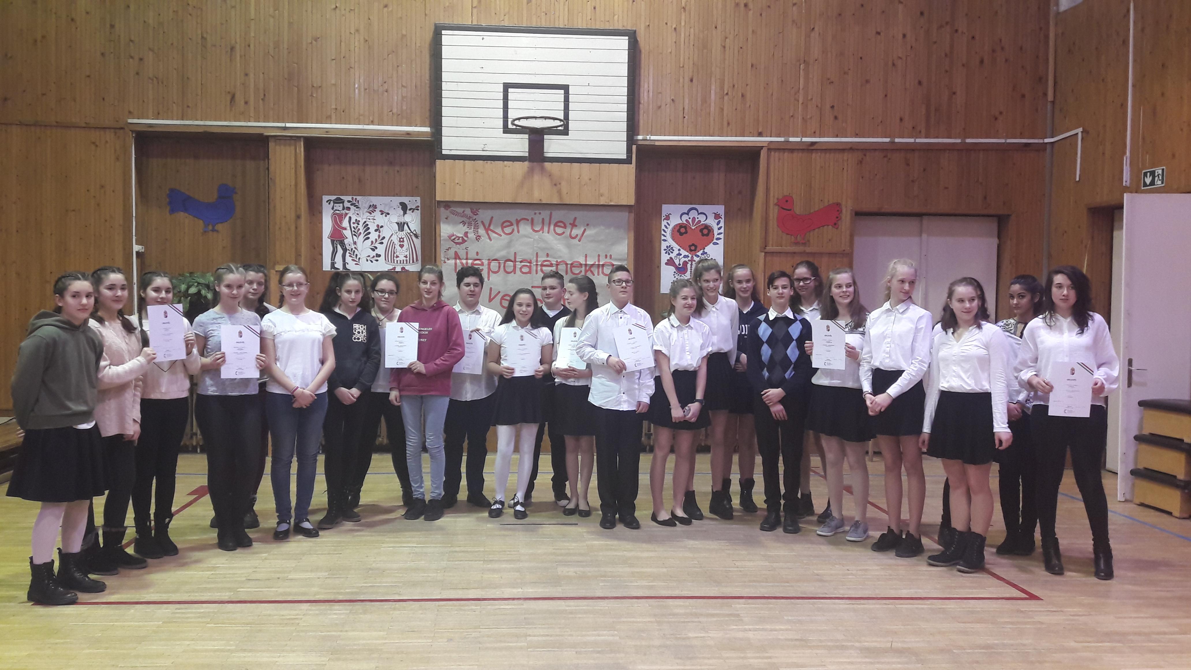 Népdaléneklő verseny a Lajtha László Általános Iskolában